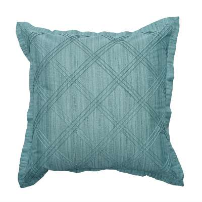 Pintuck with flange Powder Blue - Cushion Cover