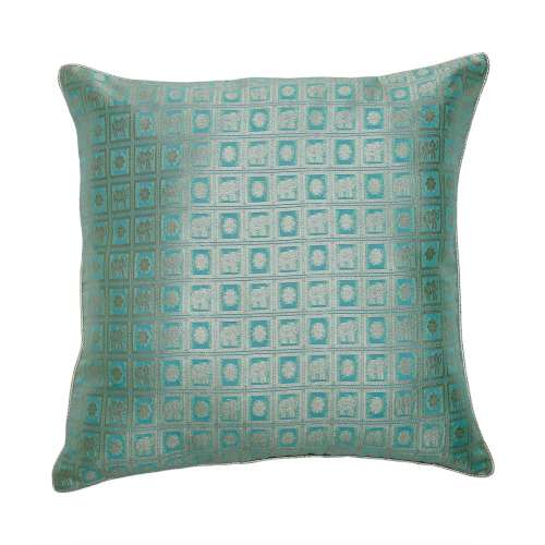 Check Board Teal - Cushion Cover