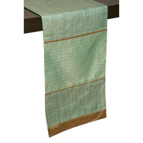 Check Board Runner Teal - Table Runners